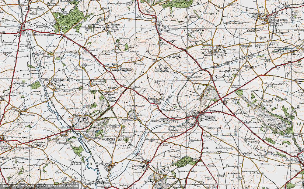 Old Map of Salford, 1919 in 1919