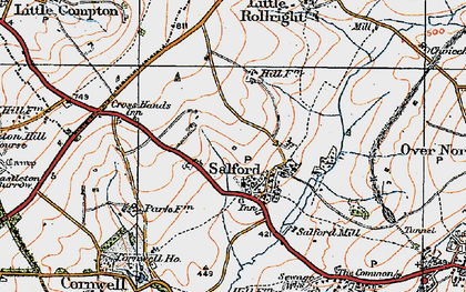 Old map of Salford in 1919