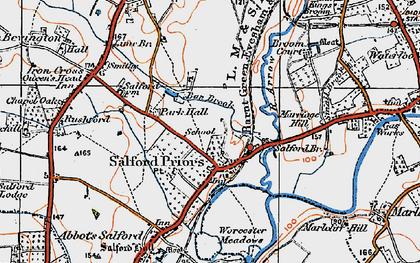 Old map of Broom Court in 1919