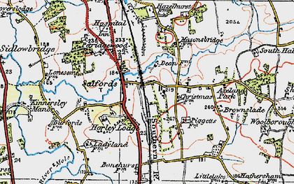 Old map of Axeland Park in 1920