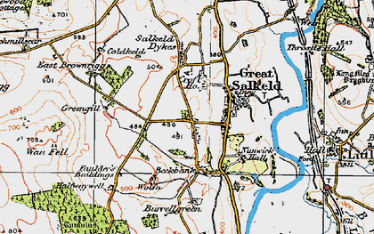 Old map of Wolfa in 1925