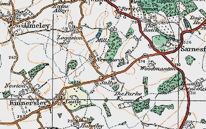 Old map of Woodmanton in 1920