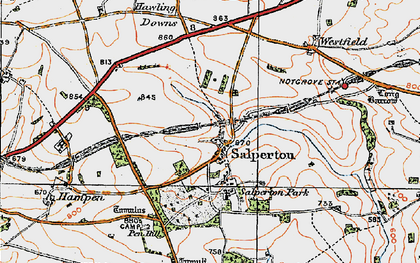 Old map of Westfield in 1919