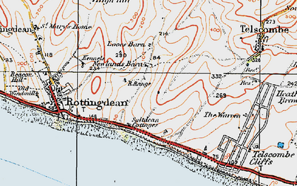 Old map of Saltdean in 1920