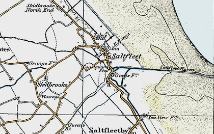Old map of Saltfleet in 1923