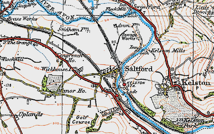 Old map of Avon Valley Country Park in 1919
