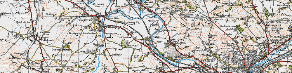 Old map of Saltford in 1919