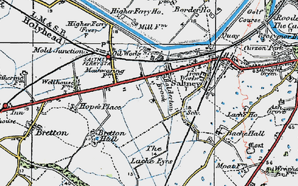 Old map of Saltney in 1924
