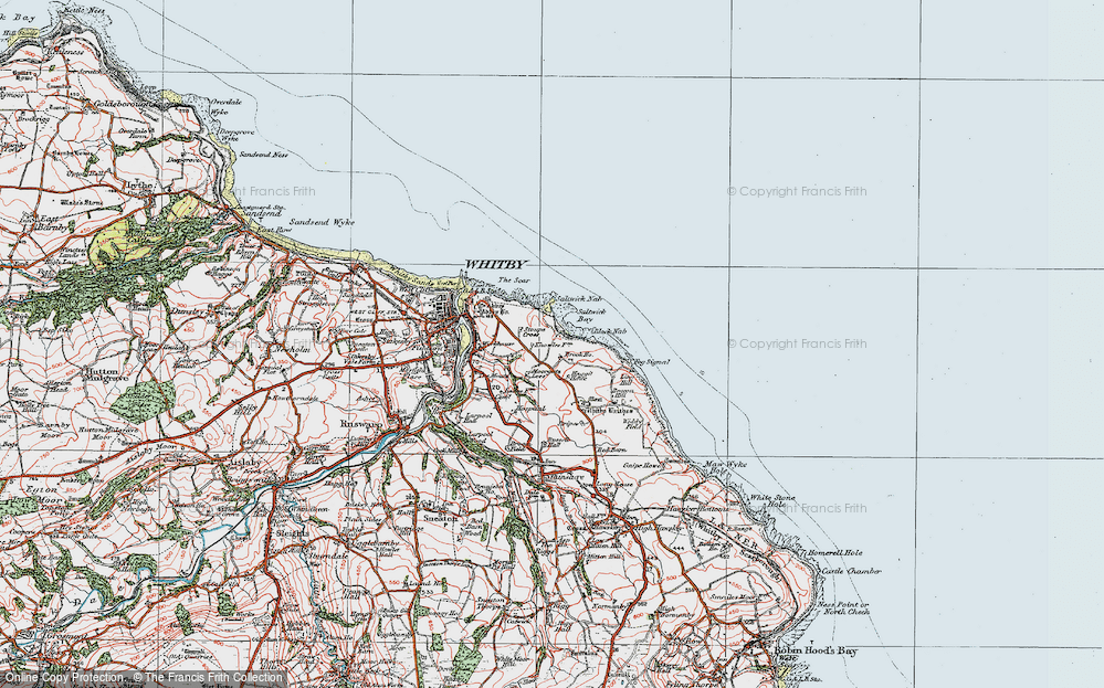 Old Map of Saltwick Bay, 1925 in 1925