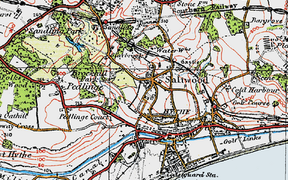 Old map of Saltwood in 1920