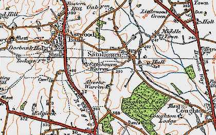 Old map of Alcester Warren in 1919