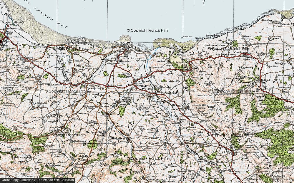 Old Map of Sampford Brett, 1919 in 1919