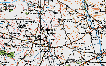 Old map of Langmead in 1919