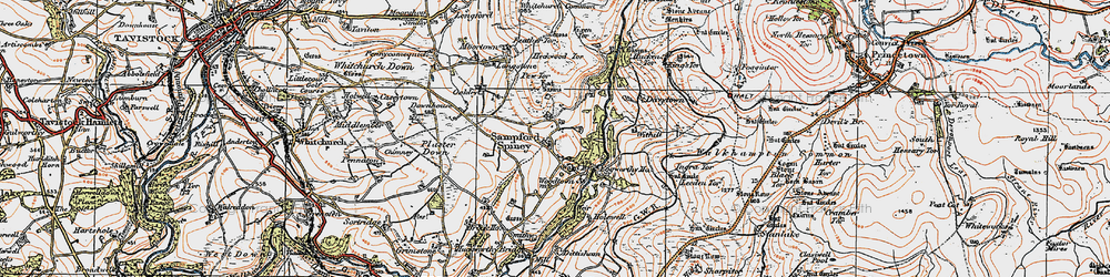 Old map of Withill in 1919