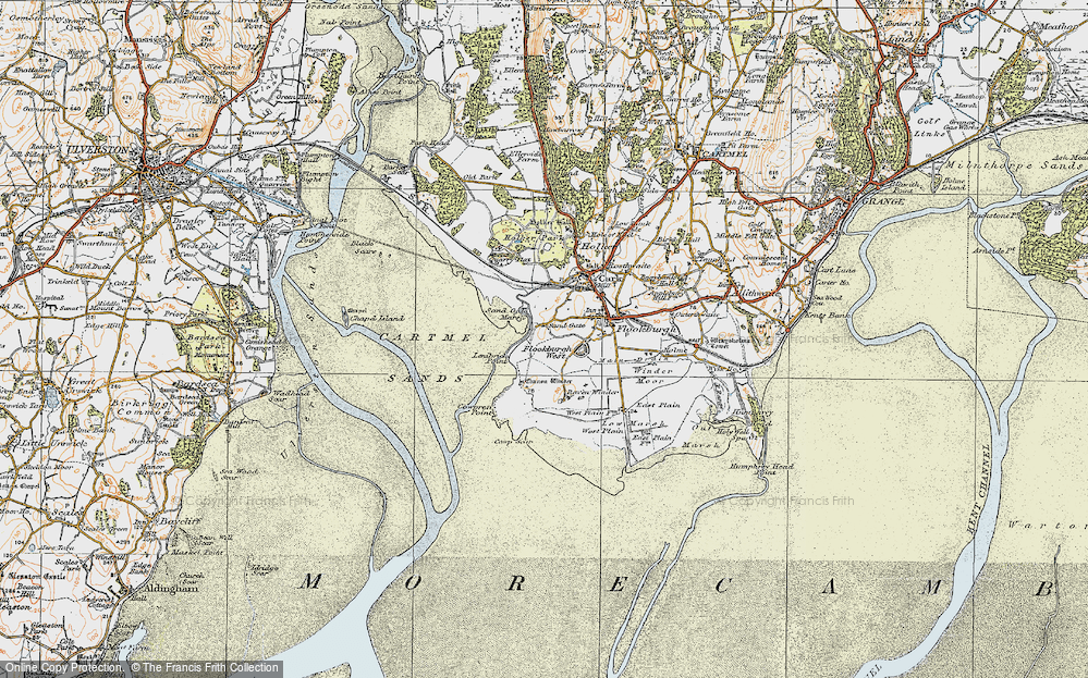 Old Map of Historic Map covering Lenibrick Point in 1925