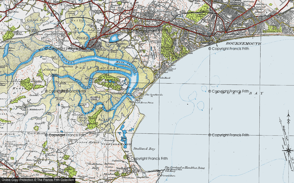 Brownsea Island Map Old Maps of Brownsea Island   Francis Frith