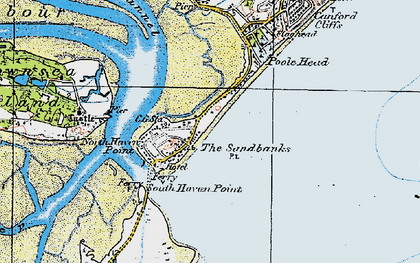 Old map of Brownsea Island in 1919