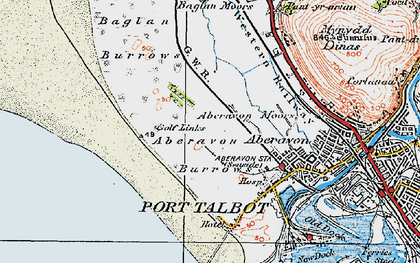Old map of Witford Point in 1922