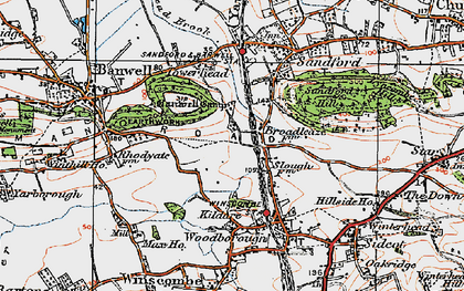 Old map of Banwell Castle in 1919