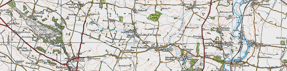 Old map of Worton Wood in 1919