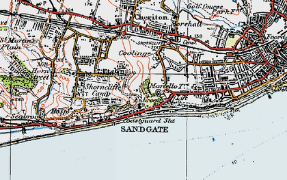 Old map of Sandgate in 1920