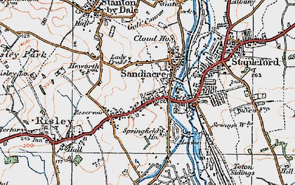 Old map of Sandiacre in 1921