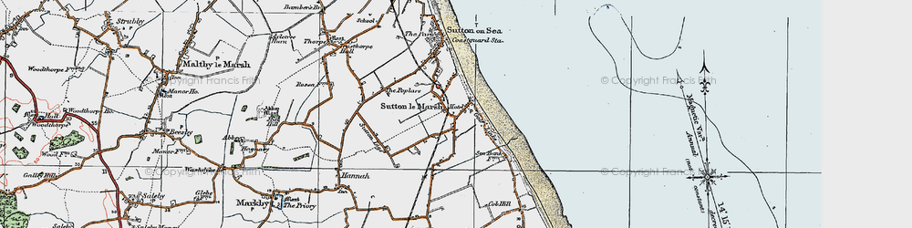 Old map of Sandilands in 1923