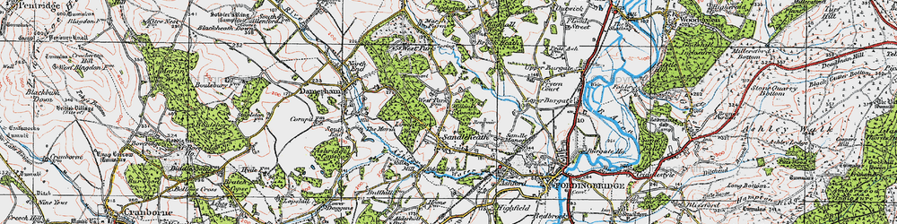 Old map of Wilkins's Coomb in 1919