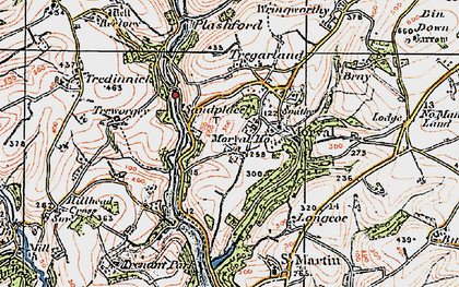 Old map of Sandplace in 1919