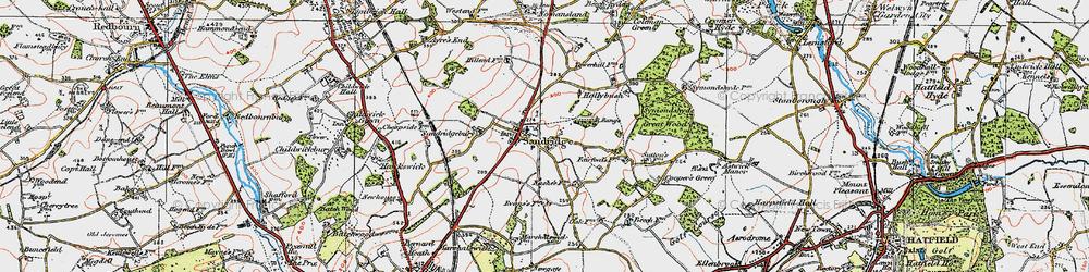 Old map of Sandridge in 1920