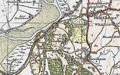 Old map of Wray Cott in 1925