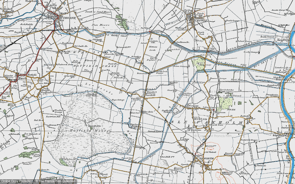 Old Map of Sandtoft, 1923 in 1923
