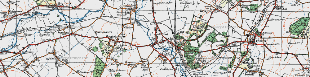 Old map of Sandy in 1919
