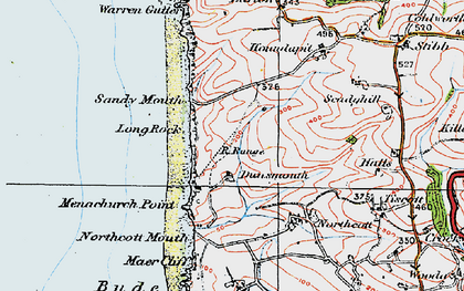Old map of Sandy Mouth in 1919