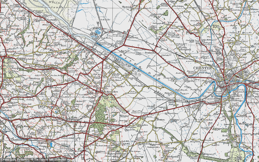 Old Map of Sandycroft, 1924 in 1924