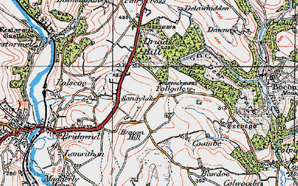 Old map of Tollgate in 1919