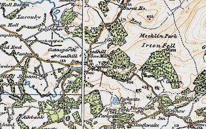 Old map of Santon Bridge in 1925