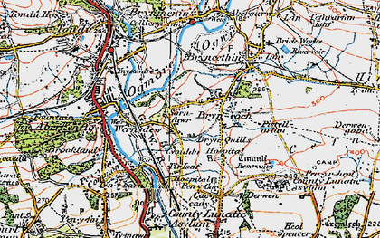 Old map of Sarn in 1922