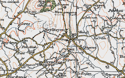 Old map of Afon Soch in 1922