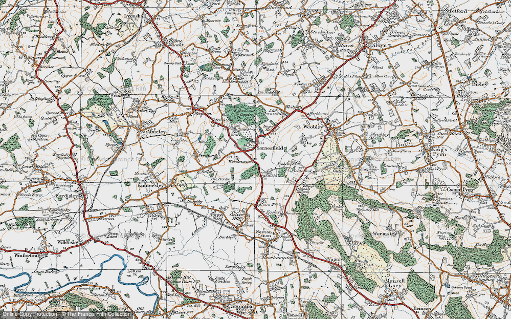 Old Map of Sarnesfield, 1920 in 1920