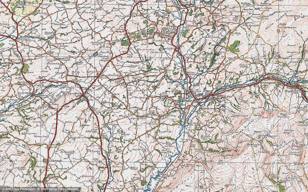 Old Map of Saron, 1923 in 1923