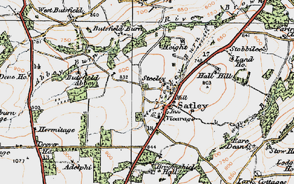 Old map of Adelphi in 1925