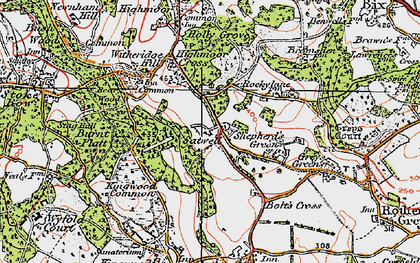 Old map of Kingwood Common in 1919