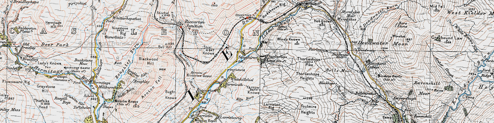 Old map of Yarrow Knowe in 1926