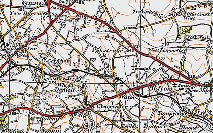 Old map of Saveock in 1919