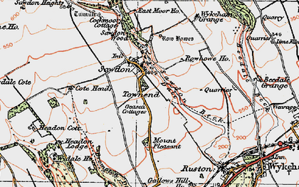 Old map of Wykeham Grange in 1925