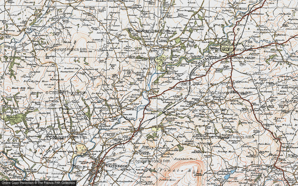 Old Map of Historic Map covering Lawson Ho in 1924