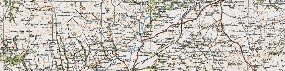 Old map of Till Ho in 1924