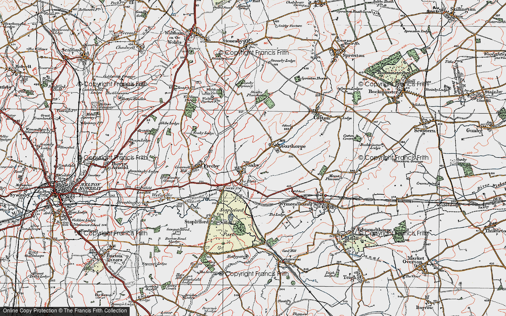 Old Map of Saxby, 1921 in 1921