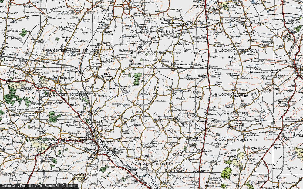 Old Map of Historic Map covering Lapwings in 1921